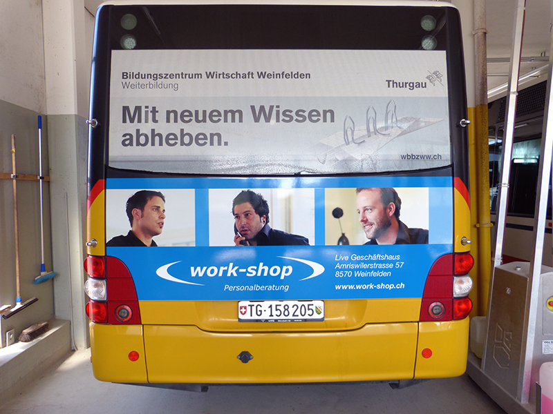 MeGusta_Werbetechnik_Referenz_Postauto_workshop_weinfelden_02