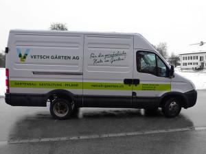 Fahrzeugbeschriftung Vetsch Gärten AG
